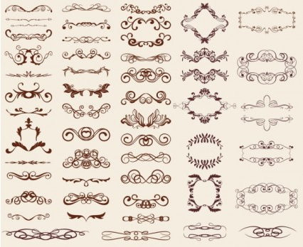 europeanstyle lace pattern 02 vector set