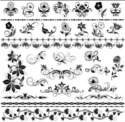 exquisite lace pattern 03 vector design