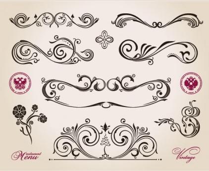 exquisite patterns 04 vector
