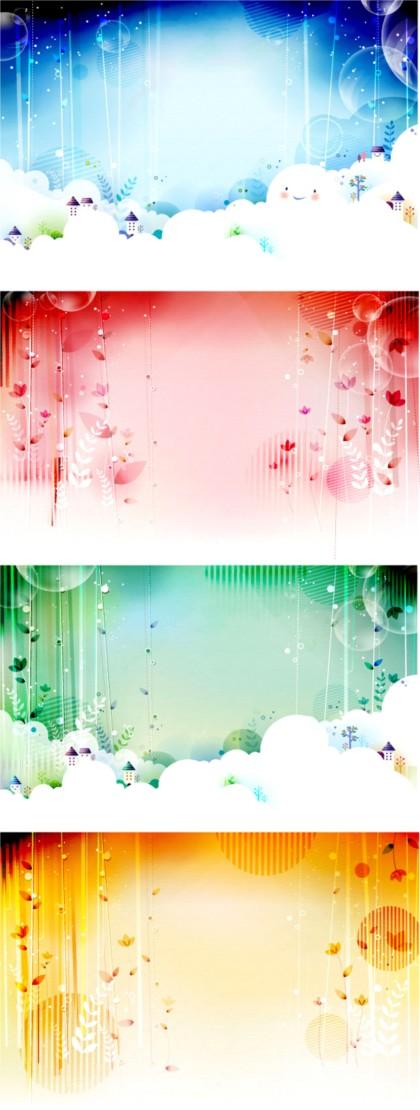 fairy tale world fantasy background design vectors