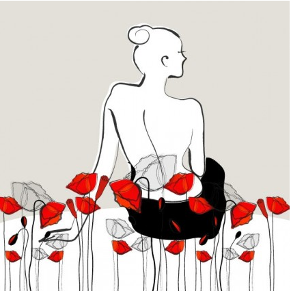 fashion flowers 4 Illustration vector