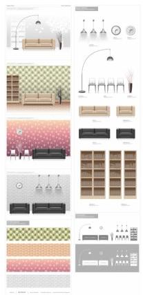 fashion indoor home vectors