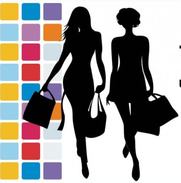 fashion shopping beauty silhouette 04 vector graphic