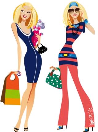fashion women illustrator 02 set vector