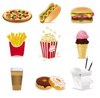 fast food cartoon 01 vectors