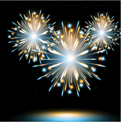 fireworks effect 02 Illustration vector