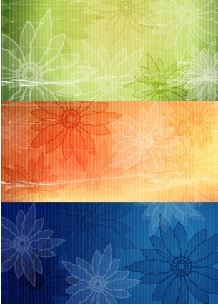 flower background 22 vectors material