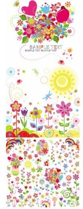 flower children illustrator design vectors