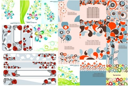 flower theme vectors material