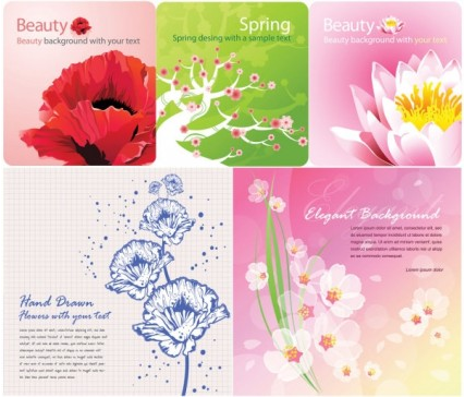 flowers Background color card vector