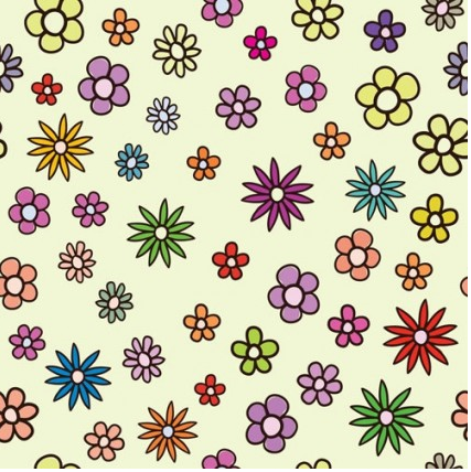 flowers background 1 vector design
