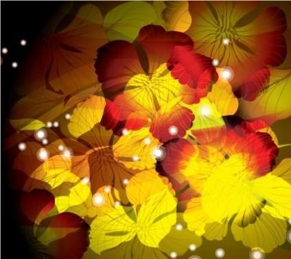 flowers background 3 vectors graphic