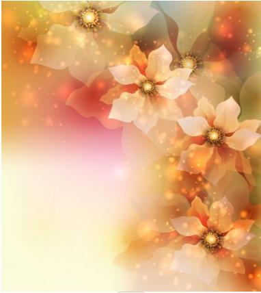 flowers background 4 vector design