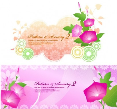 flowers background free vector graphics