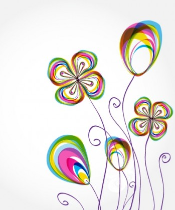 flowers background pattern 02 vector