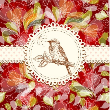 flowers card free 11 vectors graphic