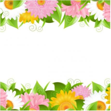 flowers petals lace background 02 design vectors