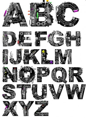 font design series vector