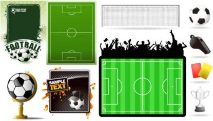 football theme creative vector