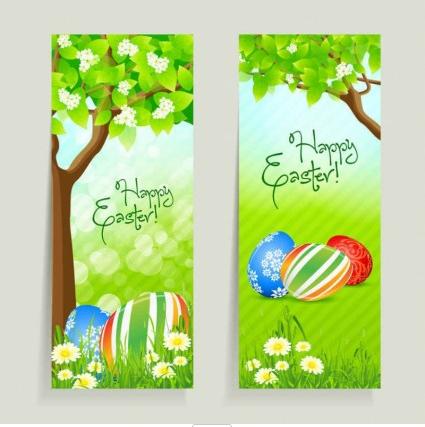 fresh Easter material vectors