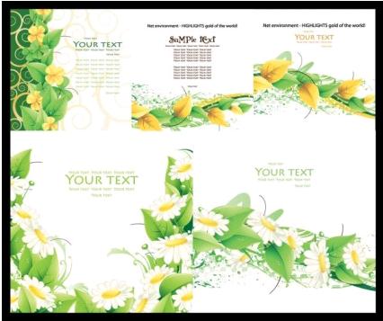 fresh green card graphic vector