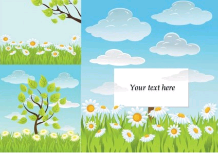 fresh summer background design vector