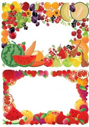 fruit border vector