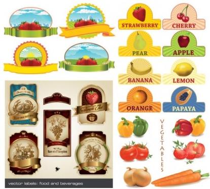 fruit theme vectors graphic