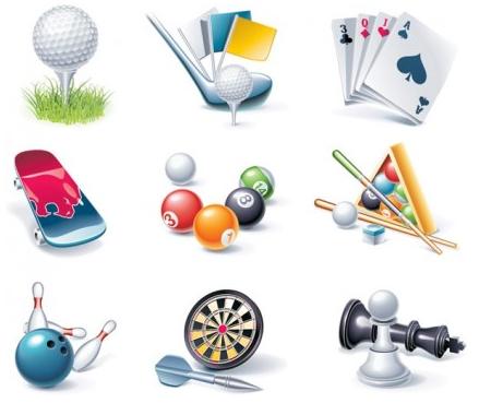 Game entertainment icon vector set