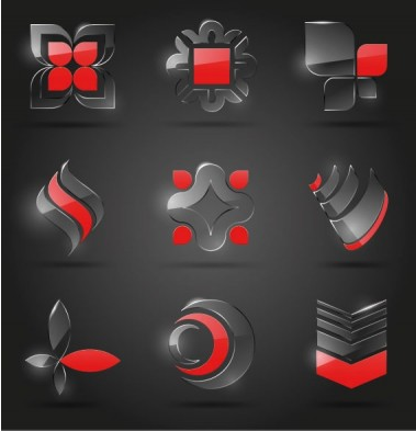 glass icon texture 01 design vector