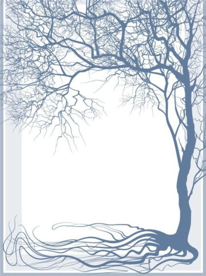 glossy tree silhouette vector