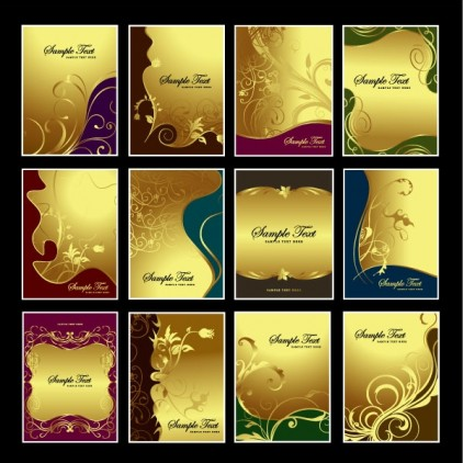 gold pattern subject vector