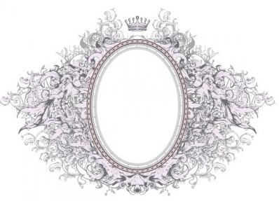gorgeous photo frame vector material