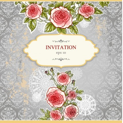 handpainted floral background 04 vector