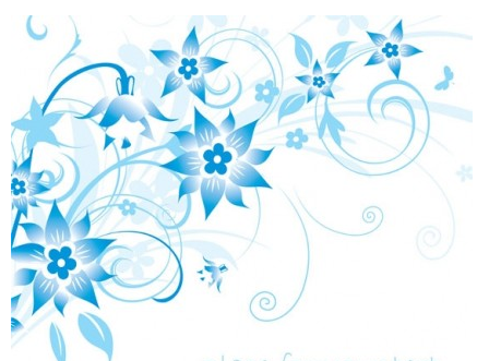 handpainted flower background pattern vector