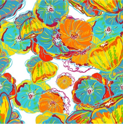 handpainted patterns background 03 vector