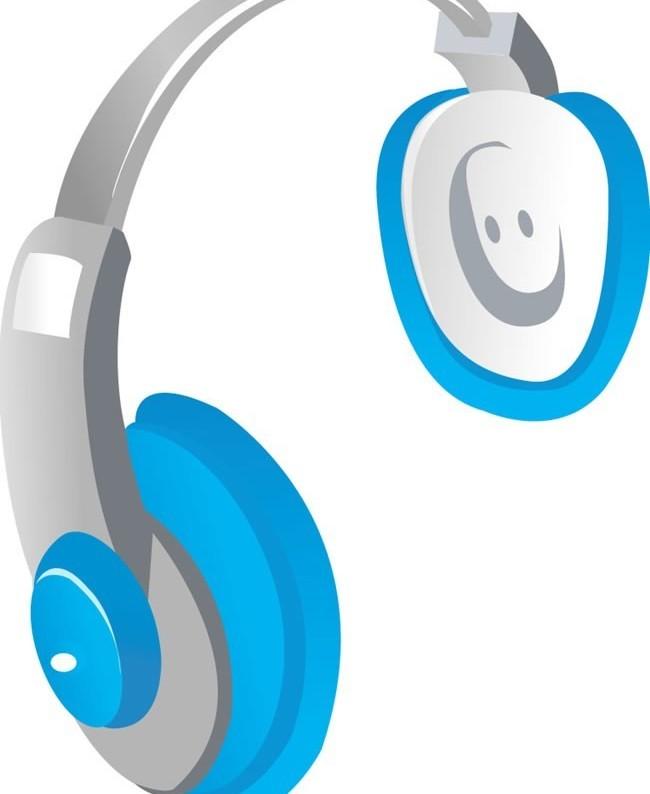 headset with earphone 1 vector graphics