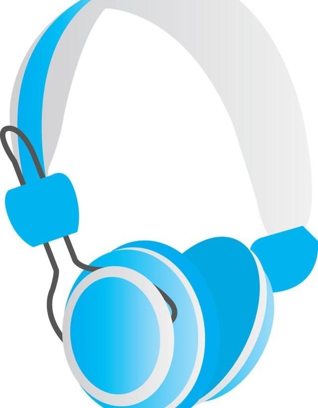 headset with earphone 2 vector
