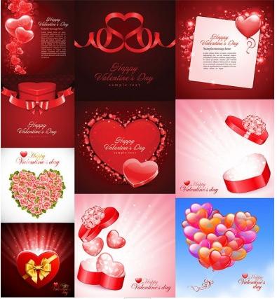 heartshaped theme vector