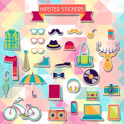 hipster sticker elements 1 vector