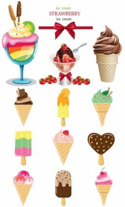 icecream color vector