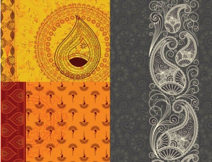 indiham pattern background vector material