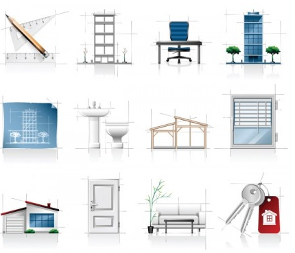 interior architectural sketches icon vector