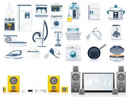 kitchen appliances vectors graphics