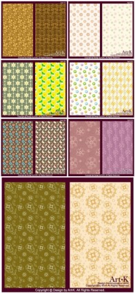 little pattern background vector