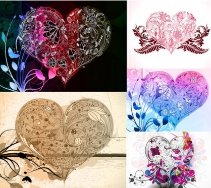 love composition pattern vector