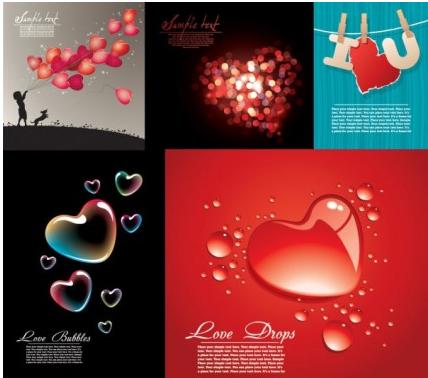love heartshaped vector set
