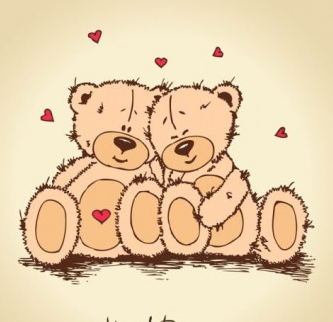 love teddy bears background 02 vector