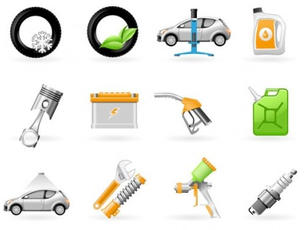 maintenance icon design vectors