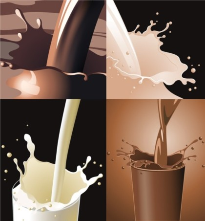 milk splash Effect vectors material